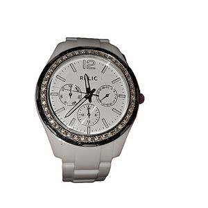 Relic Chunky White Watch